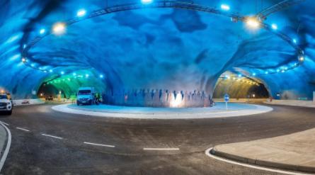 Construyen bajo el Atlántico la primera rotonda submarina del mundo