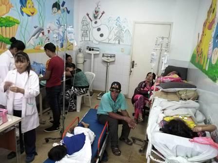 Salud debilitada a causa de la epidemia por dengue