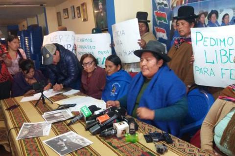 Bartolinas se declaran en emergencia y expresan su respaldo a Felipa Huanca