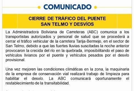 ABC-cerrara-el-paso-de-vehiculos-en-la-via-Tarija-Bermejo