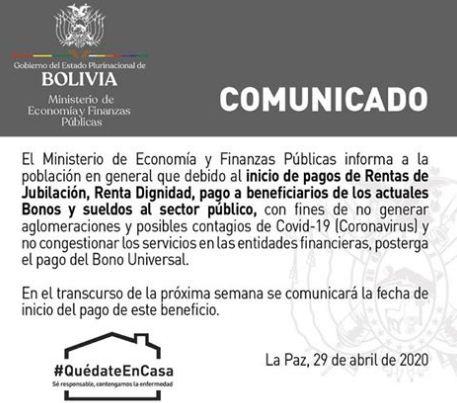 Gobierno-posterga-pago-del-Bono-Universal-