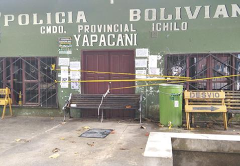 Policia-retorna-a-Yapacani-con-promesa-de-una-EPI