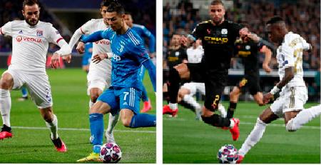 Real Madrid y la Juventus por la remontada ante el City y Lyon