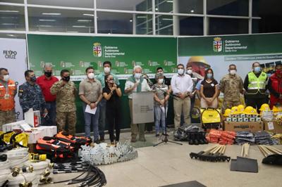 Empresariado cruceño dona equipamientos para bomberos forestales