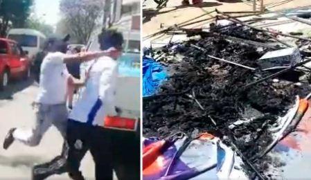 Desalojan-a-masistas-de-una-plaza-en-Cochabamba