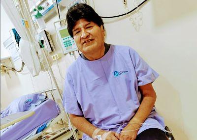 Evo Morales se recupera de forma favorable del coronavirus