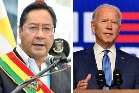 Arce saluda a Biden y aboga por una relación bilateral de respeto entre Bolivia y EEUU