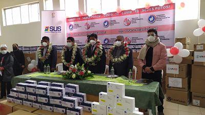 Gobierno entrega a Potosí 14 ventiladores y 32.200 pruebas de antígeno nasal