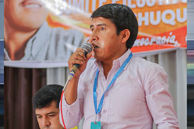 El opositor Damián Condori se declara ganador en Chuquisaca