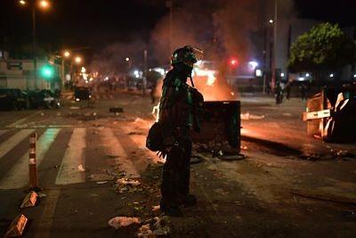 Varias-marchas-en-Colombia-para-este-miercoles,-tras-una-violenta-noche-en-Bogota