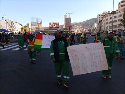 Trabajadores-de-La-Paz-Limpia-reactivan-protestas-y-advierten-con-nuevo-paro