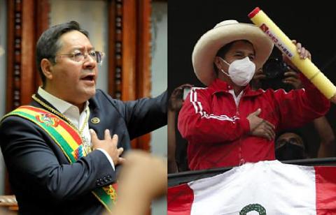 Luis-Arce-asistira-a-la-posesion-del-presidente-electo-del-Peru,-Pedro-Castillo