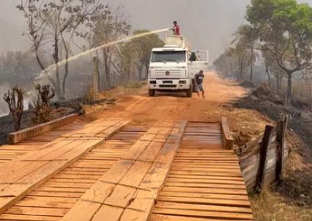 Venta de diésel perjudica sofocación de incendios en San Matías