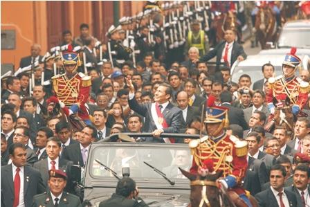 El-presidente-Humala,-no-juro-sobre-la-actual-Constitucion-de-Peru-