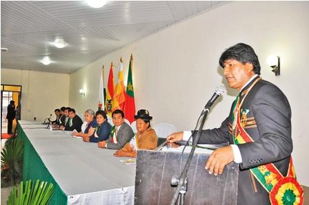 Evo-Morales-entrega-obras-en-Pando