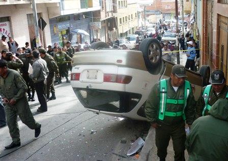 Triple-colision-en-pleno-centro-paceno-deja-cuatro-heridos