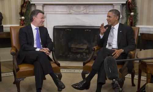 Obama-elogia-los--audaces--esfuerzos-de-Santos-para-lograr-paz-para-Colombia