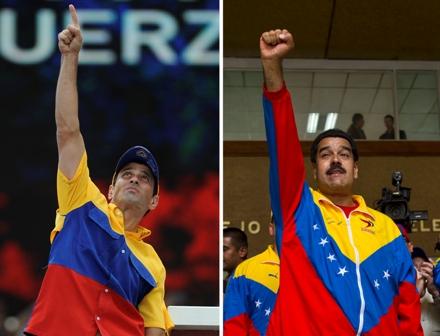 Maduro-y-Capriles-cierran-agria-campana-para-suceder-a-Chavez