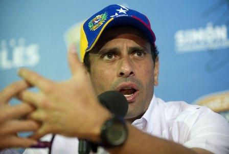 Capriles-pide-al-gobierno--dialogo--para-resolver-la-crisis-en-Venezuela