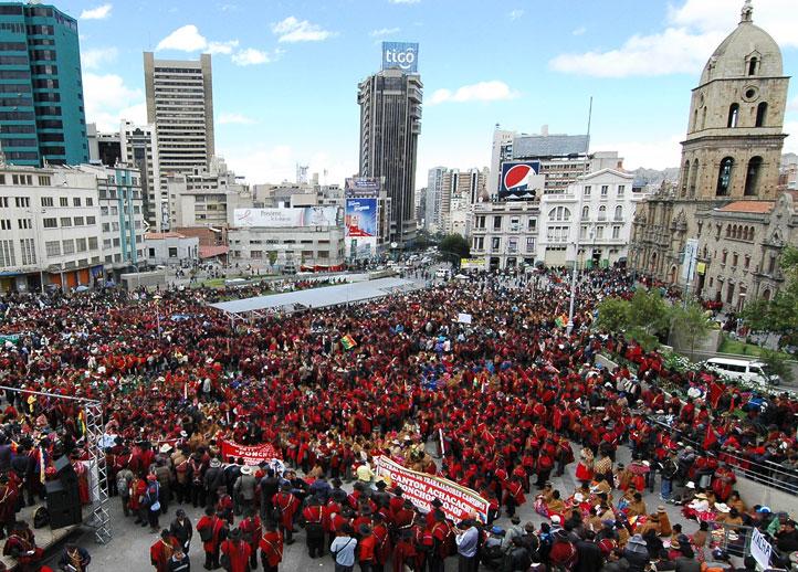 Campesinos-marchan-en-La-Paz-y-Cochabamba-en-defensa-del-proceso-de-cambio