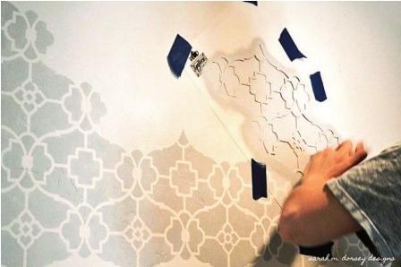 Plantillas para pintar - Como pintar una pared ya pintada ...