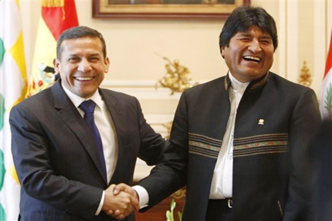 Evo-Morales-y-Ollanta-Humala-se-reuniran-en-Peru-a-finales-de-este-mes