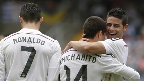 Doblete-de--Chicharito-,-le-da-la-victoria-a-Real-Madrid-sobre-el-Deportivo