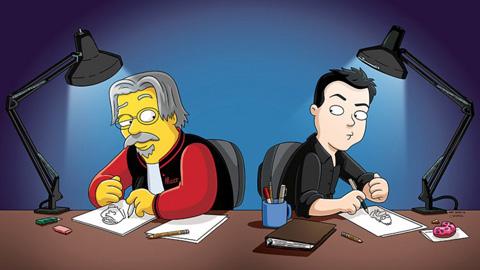 Creadores-de-Los-Simpson-y-Padre-de-Familia-se-dibujaron-mutuamente