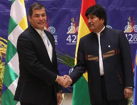 Evo-Morales-dice-que-Correa-no-ira-a-reeleccion-en-Ecuador,-por-temas-familiares