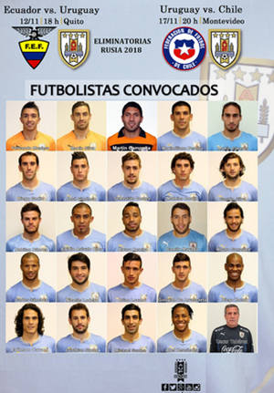 Uruguay-anuncia-lista-de-convocados-para-duelos-con-Chile-y-Ecuador