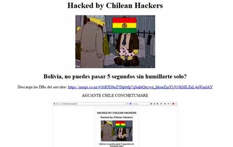 Chilenos hackean sitio web del ministerio de hidrocarburos for Pagina web del ministerio