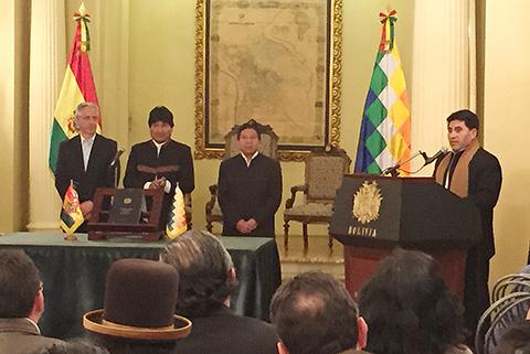 Cesar-Cocarico,-posesionado-como-nuevo-ministro-de-Desarrollo-Rural
