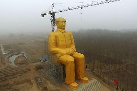 Destruyen-una-enorme-estatua-de-Mao-en-China