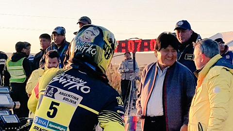 Evo-Morales-anuncia--Rally-Dakar-de-Ciclismo--para-el-2018