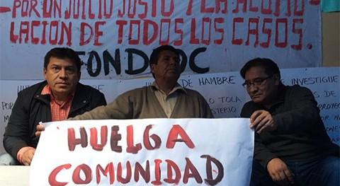 Instalan-huelga-exigiendo-investigacion-a-Achacollo-por-el-Fondo-Indigena
