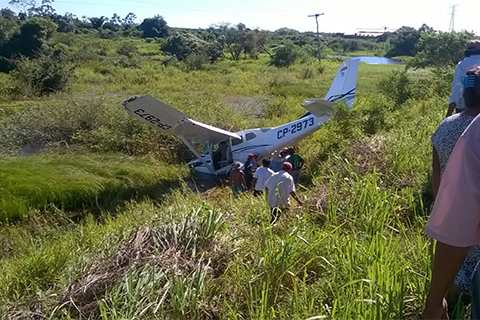Cae-avioneta-en-Trinidad,-no-se-registraron-heridos-