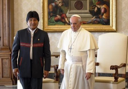 Evo-anuncia-reunion-con-el-papa-Francisco