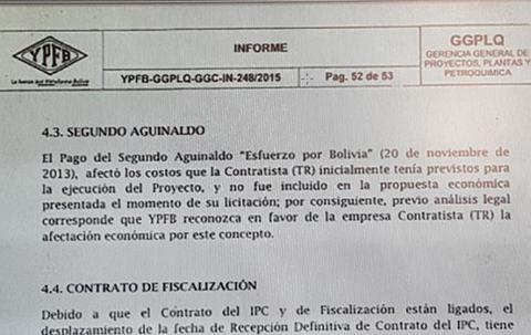 YPFB-pago-el-doble-aguinaldo,-por-casi-$us-3,7-millones,-a-empresa-Espanola-contratada-para-la-Planta-Gran-Chaco-
