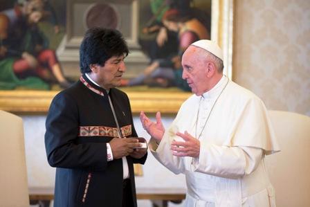 El-Papa-pidio-a-Evo-que-respete-a-la-Iglesia