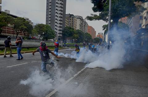 Varios-detenidos-y-fuerte-bloqueo-policial-a-marcha-opositora-en-Venezuela