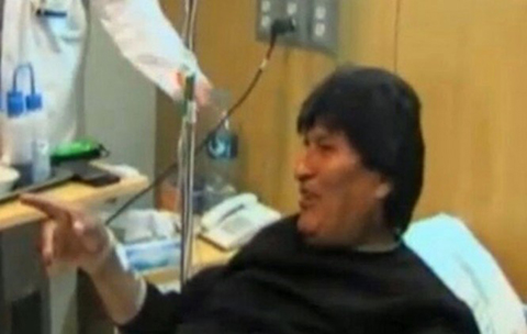 Dan-de-alta-al-presidente-Evo-Morales,-tras-su-cirugia