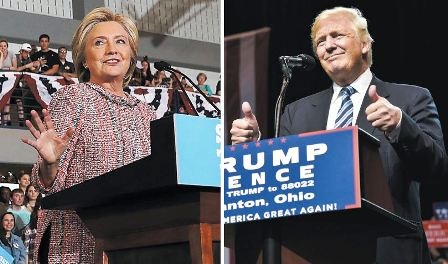 Virtual-empate-de-Trump-y-Clinton,-segun-sondeo