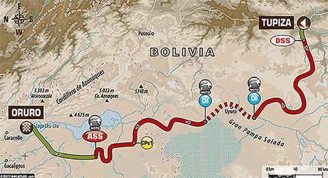Policia-moviliza-1.265-uniformados-en-Oruro-por-el-paso-del-Rally-Dakar
