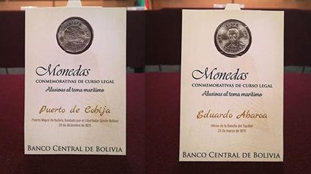 El-BCB-emite-monedas-comemorativas-con-el-rostro-de-Eduardo-Abaroa-y-la-figura-del-Puerto-de-Cobija