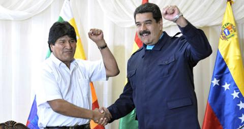 Morales-felicita-a-Maduro-por-su-cumpleanos-y-dice-que-es--digno--sucesor-de-Hugo-Chavez