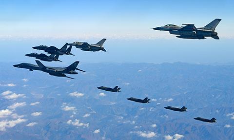 Estados-Unidos-moviliza-bombardero-para-maniobras-en-Corea