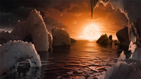Descubren-un-sistema-solar-con-siete-planetas-similares-a-la-Tierra