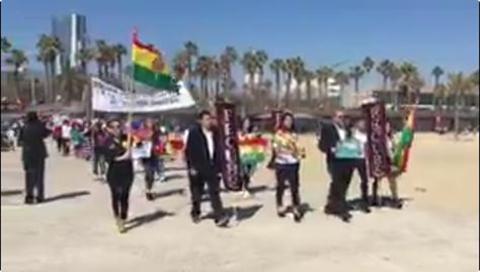 Residentes-bolivianos-en-Espana-marcharon-en-respaldo-a-la-demanda-maritima
