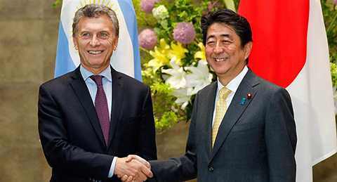 Macri-se-reunio-con-el-primer-ministro-de-Japon,-Shinzo-Abe-