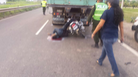 Motociclista-fallece-en-accidente-de-transito-en-ruta-a-Warnes